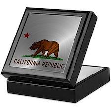 Steel California Republic Keepsake Box