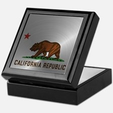 Steel California Republic Keepsake Box