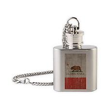 Vintage California Republic Flask Necklace