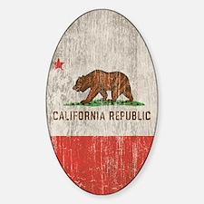 Vintage California Republic Sticker (Oval)