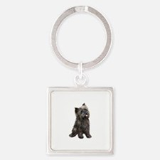 Brindle Cairn (#14) Square Keychain