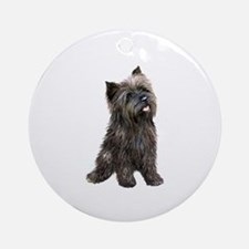 Brindle Cairn (#14) Ornament (Round)