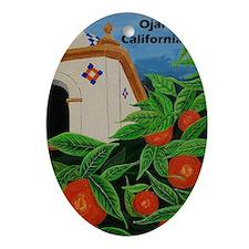 Ojai California Oval Ornament