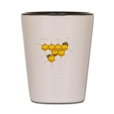 Bees and honeycomb Shot Glass