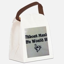 Without Music Life Would Bb Canvas Lunch Bag