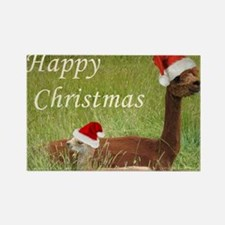 Mother and Baby Christmas Rectangle Magnet