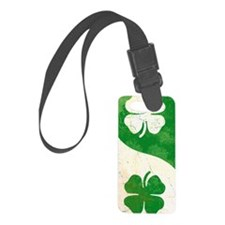 Irish Shamrock Yin Yang Luggage Tag