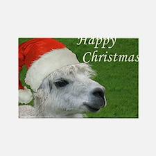 Alpaca Christmas Rectangle Magnet