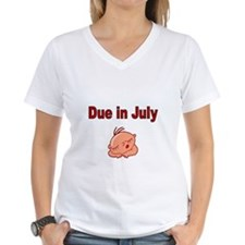 Due in July -baby face T-Shirt