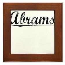 Abrams, Vintage Framed Tile
