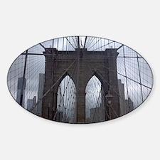 Brooklyn Bridge Sticker (Oval)