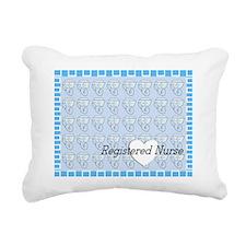 RN blanket blue white he Rectangular Canvas Pillow