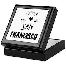 SF_12x12_LeftHeart_Design2_Black Keepsake Box