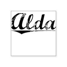 "Alda, Vintage Square Sticker 3"" x 3"""