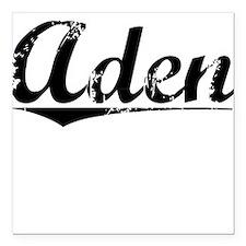 """Aden, Vintage Square Car Magnet 3"""" x 3"""""""