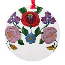 Kalocsai hand embroidery floral pat Ornament