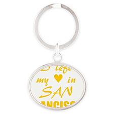 SF_10x10_LeftHeart_Design2_Yellow Oval Keychain
