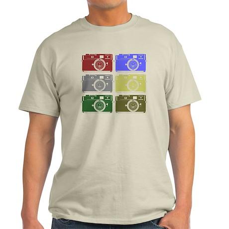 Cameras, Warhol, Light T-Shirt