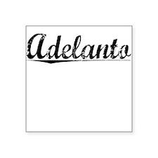 "Adelanto, Vintage Square Sticker 3"" x 3"""