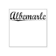 "Albemarle, Vintage Square Sticker 3"" x 3"""