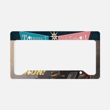 Live and on the run Sticker License Plate Holder