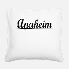 Anaheim, Vintage Square Canvas Pillow