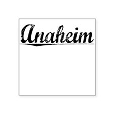 "Anaheim, Vintage Square Sticker 3"" x 3"""