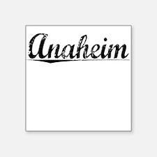 """Anaheim, Vintage Square Sticker 3"""" x 3"""""""