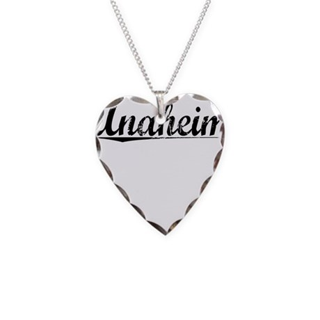 Anaheim, Vintage Necklace Heart Charm