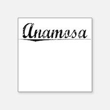 "Anamosa, Vintage Square Sticker 3"" x 3"""