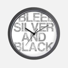 I Bleed Silver and Black, Aged, Wall Clock