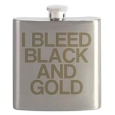 I Bleed Black and Gold Flask