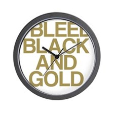 I Bleed Black and Gold Wall Clock