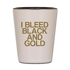 I Bleed Black and Gold Shot Glass