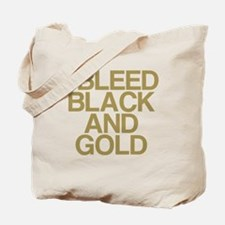 I Bleed Black and Gold Tote Bag