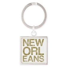 NEW ORLEANS, Vintage, Square Keychain