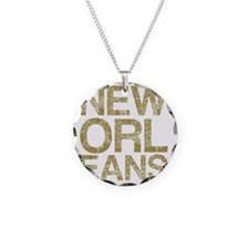 NEW ORLEANS, Vintage, Necklace Circle Charm