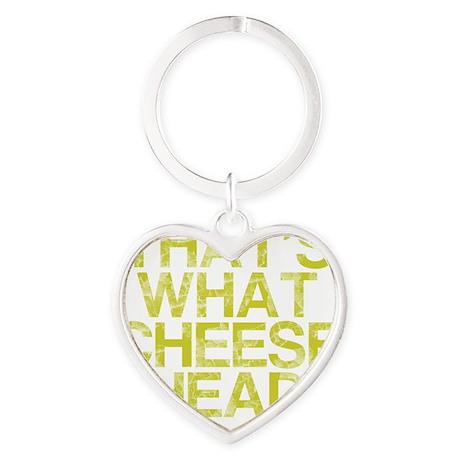 Thats what CHEESE HEAD Heart Keychain
