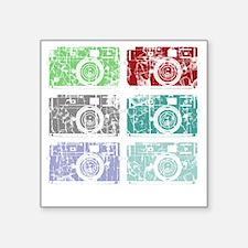 "Cameras, Warhol, Vintage Square Sticker 3"" x 3"""