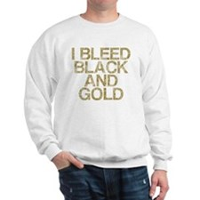 I Bleed Black and Gold, Vintage, Sweatshirt