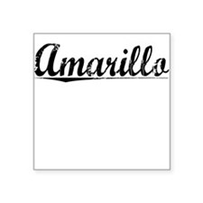 "Amarillo, Vintage Square Sticker 3"" x 3"""