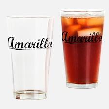 Amarillo, Vintage Drinking Glass