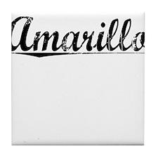Amarillo, Vintage Tile Coaster