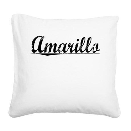 Amarillo, Vintage Square Canvas Pillow