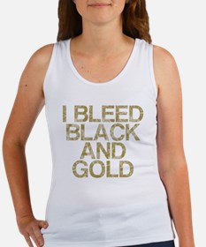 I Bleed Black and Gold, Vintage, Women's Tank Top