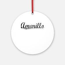 Amarillo, Vintage Round Ornament