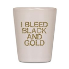 I Bleed Black and Gold, Vintage, Shot Glass