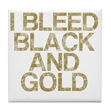 I Bleed Black and Gold, Vintage, Tile Coaster