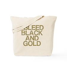 I Bleed Black and Gold, Vintage, Tote Bag