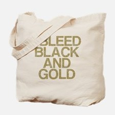 I Bleed Black and Gold, Vintage, Tote Bag